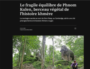 Le fragile équilibre du Phnom Kulen: 24h journal
